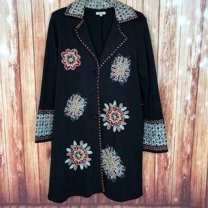 Anthropologie Embroidered Duster Jacket (XL)